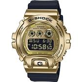 CASIO卡西歐 G-SHOCK 街頭嘻哈金屬錶 (GM-6900G-9) 黑金/49.7mm