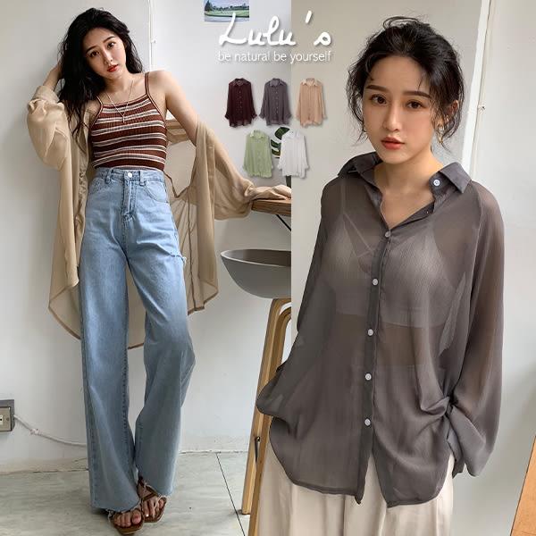 LULUS-C雪紡透膚長袖襯衫-5色  【01190294】