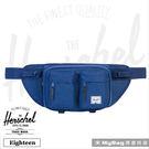 Herschel 腰包  Eighteen-1335  單寧布藍  單肩雙口袋側背包  MyBag得意時袋