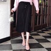 韓版時尚針織大擺高腰半身裙    琉璃美衣