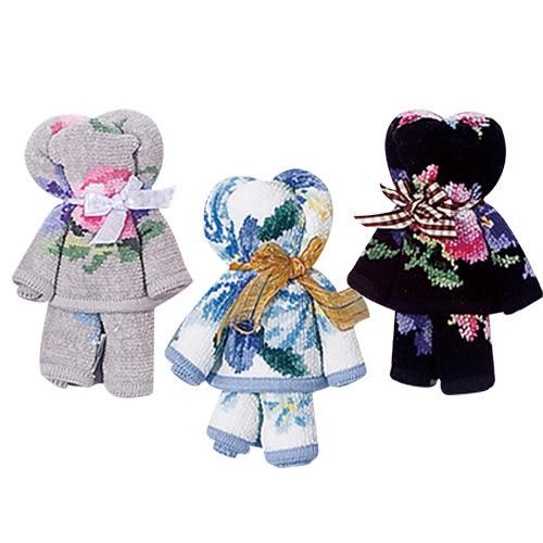 UCHINO [小熊造型手帕] MoNoE 送禮 100%純棉 手帕 毛巾 小熊玩偶 情人節 全台限量