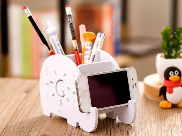 多功能筆筒歐式創意時尚韓國小清新學生可愛桌面收納盒擺件辦公品