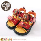 男童鞋 台灣製POLI正版羅伊款男童閃燈涼鞋 魔法Baby