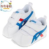 《布布童鞋》asics亞瑟士經典款CORSAIR白色寶寶機能學步鞋(13~15.5公分) [ J0C151M ]
