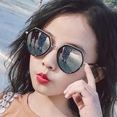 18年兒童太陽鏡女童眼鏡男童墨鏡寶寶小孩眼睛個性防紫外線3-10歲