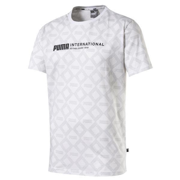 Puma Logo 男 白色 印花 短袖 運動上衣 短T 棉T 運動 休閒 柔軟 舒適 短袖上衣 58177402