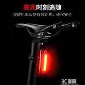 洛克兄弟山地自行車騎行尾燈USB充電警示燈夜騎尾燈前燈LED裝備