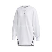 adidas 長袖T恤 Style Tunic 白 黑 女款 長版 運動休閒 【ACS】 GF7022