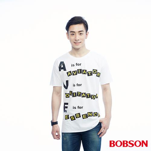 BOBSON  男款捲邊造型上衣(26032-80)