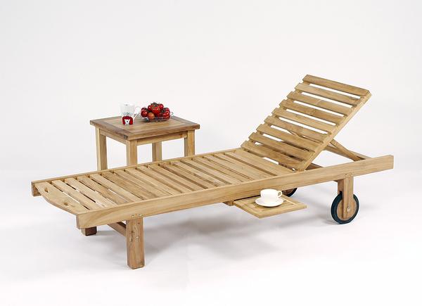 【南洋風休閒傢俱】戶外躺椅系列 -柚木折合躺椅 戶外實木海灘游泳池躺椅 適運動會館 泳池 #333T
