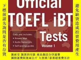 二手書博民逛書店Official罕見TOEFL Ibt Tests with Audio托福考試全真試題集:英漢對照Y4280