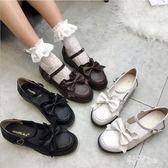 日系lolita洛麗塔女鞋可愛公主鞋蝴蝶結圓頭軟妹學生cos制服娃娃鞋 DN19275『科炫3C』