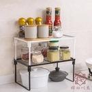 廚房置物架可疊加鐵藝櫥柜瀝水碗碟架收納架【櫻田川島】