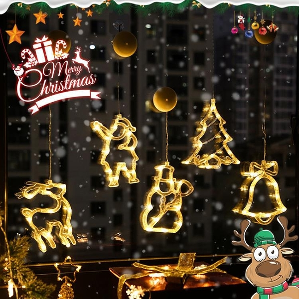 聖誕節掛飾彩燈室內房間裝飾物品女生禮物網紅星星小夜燈櫥窗裝飾 微愛家居