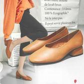 春秋圓頭森女奶奶鞋女春季軟皮豆豆鞋復古高跟鞋淺口粗跟單鞋
