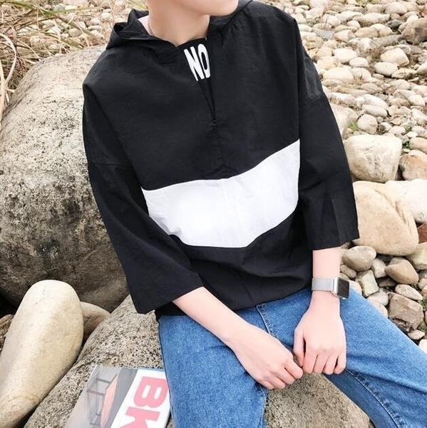 FINDSENSE品牌 韓版 街頭潮流 男裝連帽 簡約 休閑薄款 夾克 防曬衣