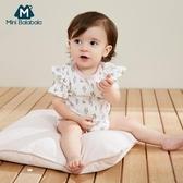 女寶寶夏季薄款三角衣嬰兒透氣連體衣包屁衣 潮流館