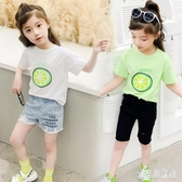 女童短袖圓領T恤2020新款夏裝小學生女孩兒童白色棉質洋氣上衣潮 TR1435『寶貝兒童裝』