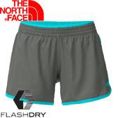 【The North Face 女 FLASHDRY 4吋短褲 雲杉綠/青藍】 0A2RH5/休閒短褲/快乾短褲/短褲★滿額送