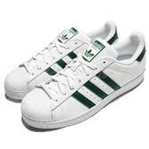 adidas 休閒鞋 Superstar 白 綠 貝殼頭 金標 基本款 基本款 運動鞋 男鞋 女鞋【PUMP306】 CM8081