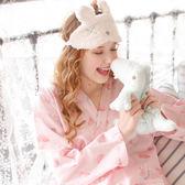 萬聖節狂歡   日式和服睡衣女夏純棉薄款紗布長袖甜美可愛公主風家居服女夏套裝   mandyc衣間