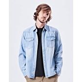 CACO-重洗水牛仔襯衫(二色)-情侶款-男【UNA018】