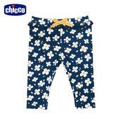 chicco-TO BE Baby-滿底花朵內搭長褲-藍