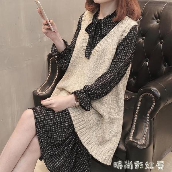 毛衣馬甲女秋裝新款韓版寬鬆馬夾v領中長款百搭針織毛線背心外套 裝飾界