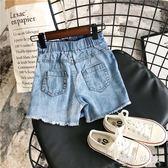 夏季女童牛仔短褲2019新款韓版童裝紐扣牛仔裙褲時尚潮款兒童褲子 GD689【黑色妹妹】