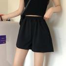 黑色超短褲女夏寬鬆寬管褲2021年夏季新款寬鬆高腰休閒褲顯瘦褲子 【端午節特惠】