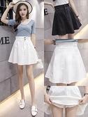 百褶裙 牛仔短裙2020年夏季新款 高腰百褶a字蓬蓬裙子顯瘦白色半身裙女夏