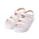 RIN RIN 菱紋腳床涼鞋 白 女鞋