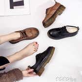 小皮鞋女小皮鞋女原宿英倫學院風復古學生鞋軟妹加棉保暖平底女鞋春季特賣