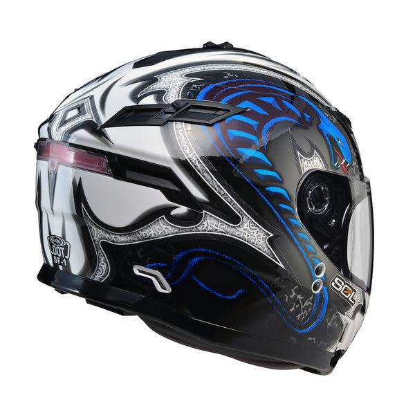 SOL安全帽,SF1,眼鏡蛇/白藍