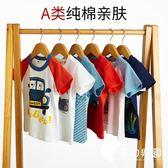 男童T恤-男童短袖T恤夏裝潮汽車兒童衣服嬰幼兒小童寶寶純棉半袖1-2-3-4歲-奇幻樂園
