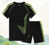 新款運動套裝男士夏季休閒跑步T桖短袖衫速干運動健身衣寬鬆透氣