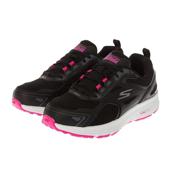 SKECHERS GO RUN CONSISTENT 黑桃 女 寬楦 網布 瑜珈 慢跑鞋 128075WBKPK