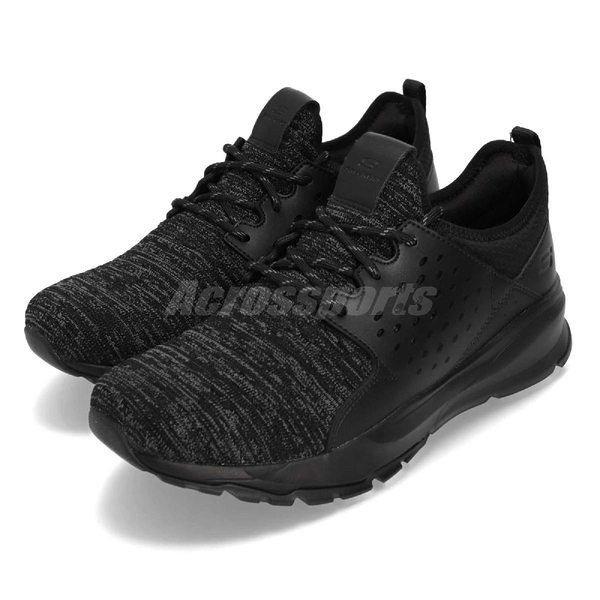 Skechers 休閒鞋 Relven-Velton 黑 全黑 編織鞋面 時尚健走鞋 運動鞋 男鞋【ACS】 65659WBBK