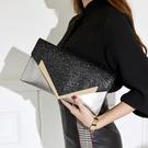 宴會包 晚宴包韓版女士手拿包2021新款亮片單肩包時尚手抓包氣質斜跨女包信封包