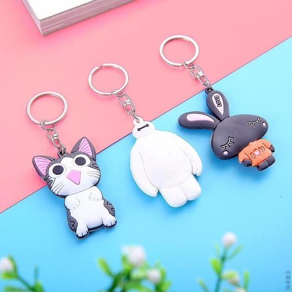韓國硅膠卡通可愛動物鑰匙扣掛腰汽車鑰匙圈女環男女鑰匙鏈小掛件JRM-1605