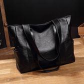 大包包女2019春季新款韓版簡約百搭手提包大容量側背包托特包女包 潮人女鞋