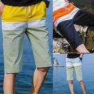 拼色休閒短褲/運動五分褲/沙灘褲 3色 M-4XL碼【CM65191】