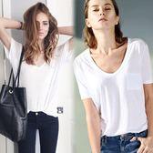 夏莫代爾t恤女v領短袖顯瘦寬鬆胖mm加肥加大碼打底衫白體恤大王t