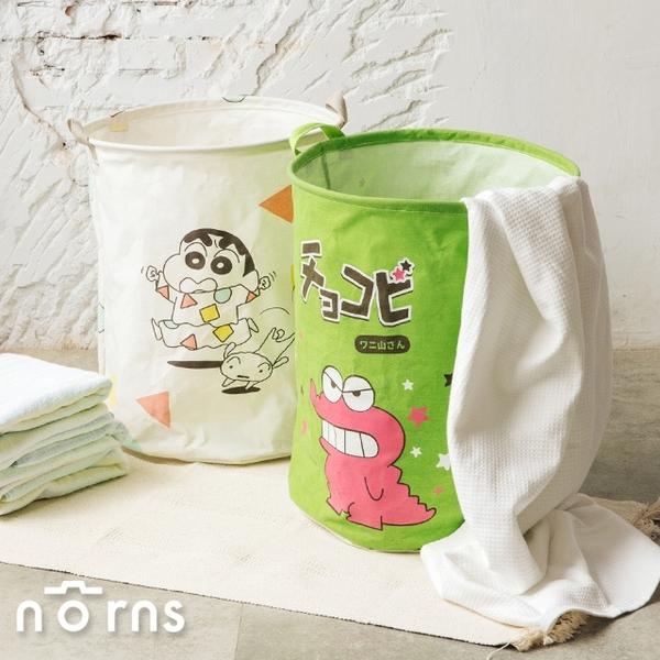 蠟筆小新棉麻聚酯收納籃- Norns 正版授權 居家收納用品 洗衣籃 巧克比