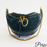 Pries【街頭的藝術】頂級牛皮出國好麻吉腰包 - 藍綠