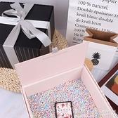少女心大號生日禮物驚喜盒燙金條紋包裝盒ins新娘伴手流星球禮盒 ◣怦然心動◥