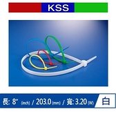 KSS CV-200SK 尼龍紮線帶 白 (1000 PCS)