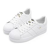 PLAYBOY 簡約潮流 條紋拼接休閒鞋-白(Y5318)