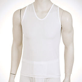 【碧多妮】男性純蠶絲V領背心 衛生衣(D8003)