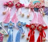 女童中國風流蘇兔毛球髪飾大紅色